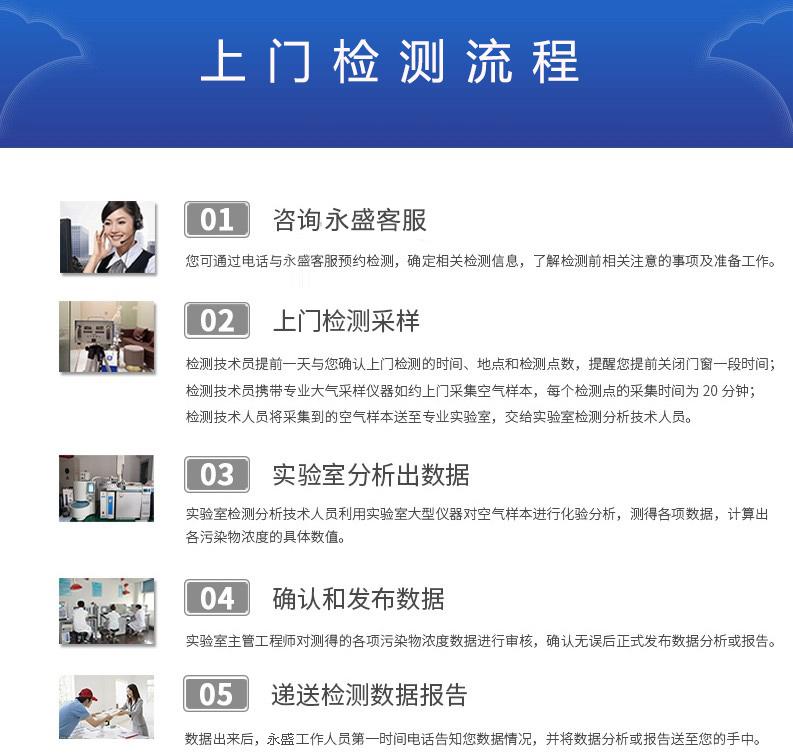 中山永盛公司上门检测服务流程